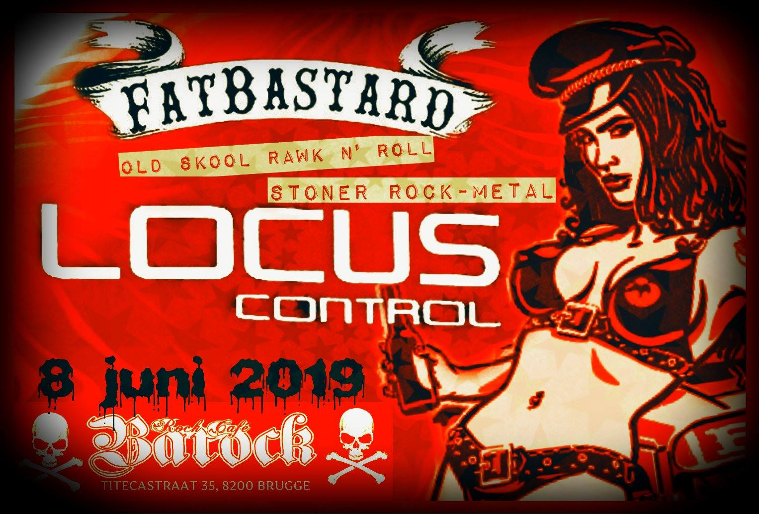 8 June 2019 – Barock (Bruges, BE) – Kickass Poster by Fabian